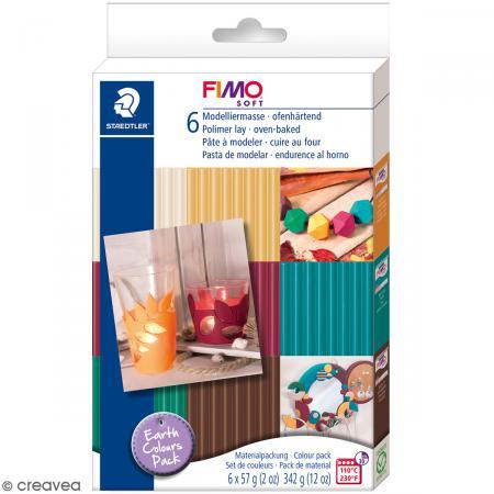Coffret Fimo Soft - Couleurs Terre - 6 pains de 57 g - Photo n°1