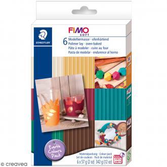 Coffret Fimo Soft - Couleurs Terre - 6 pains de 57 g