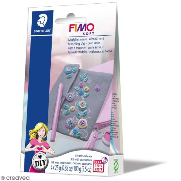 Kit pâte Fimo DIY - Accessoires de poche - 5 pcs - Photo n°1