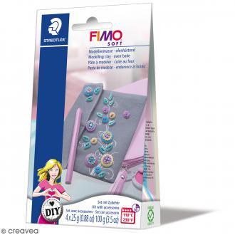 Kit pâte Fimo DIY - Accessoires de poche - 5 pcs