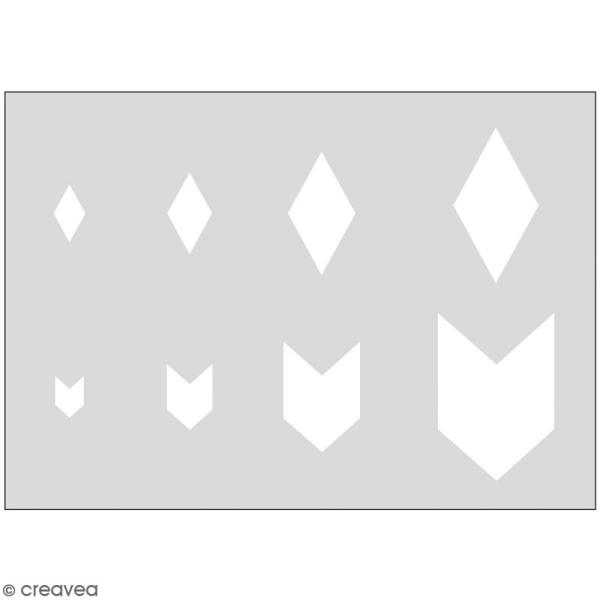 Gabarits pour pâte polymère - Fanions - 8 formes - Photo n°1
