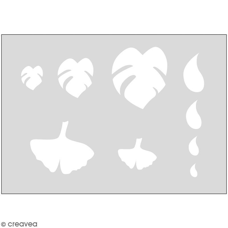 Gabarits pour pâte polymère - Feuilles - 9 formes - Photo n°1