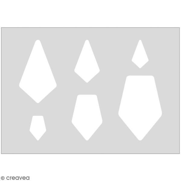 Gabarits pour pâte polymère - Joyaux - 6 formes - Photo n°1