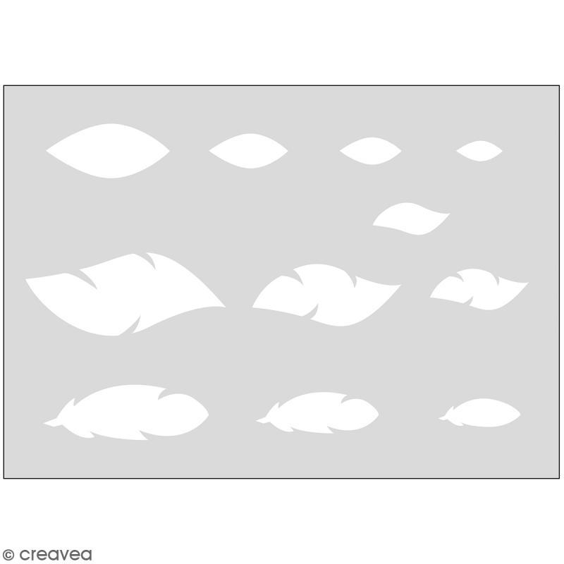 Gabarits pour pâte polymère - Plumes - 11 formes - Photo n°1