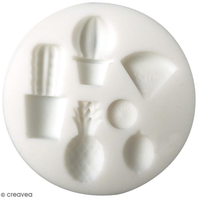 Mini moule en silicone - Exotique - 7 cm de diamètre - 6 formes - Photo n°1
