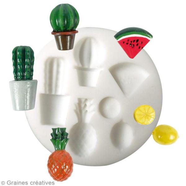Mini moule en silicone - Exotique - 7 cm de diamètre - 6 formes - Photo n°2