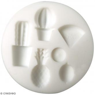 Mini moule en silicone - Exotique - 7 cm de diamètre - 6 formes