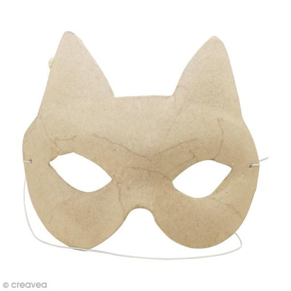 Masque Chat à décorer - 16 x 11,5 cm - Photo n°1