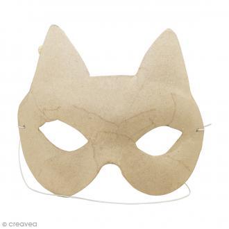 Masque Chat à décorer - 16 x 11,5 cm