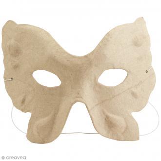 Masque Papillon à décorer - 15,5 x 11,5 cm