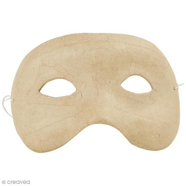 Masque Loup à décorer - 15,5 x 8,5 cm - Photo n°1