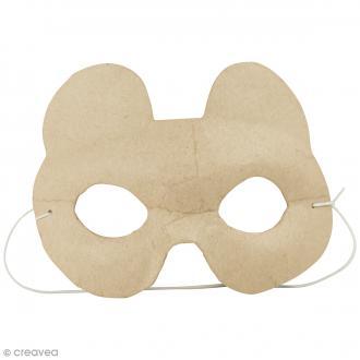 Masque Ours à décorer - 16 x 11 cm