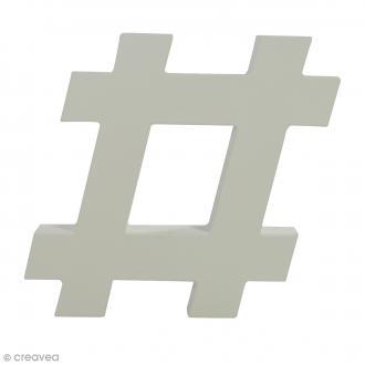 Hashtag à décorer - 12 cm