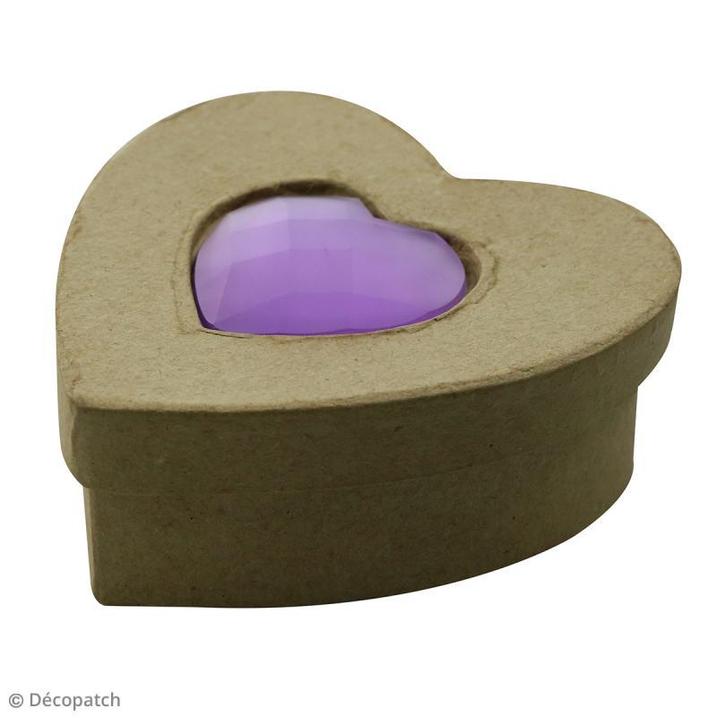 Boîte Coeur Spéciale Trésors à décorer - 10 x 10 x 4 cm - Photo n°1