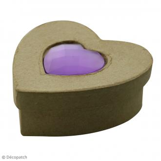 Boîte Coeur Spéciale Trésors à décorer - 10 x 10 x 4 cm