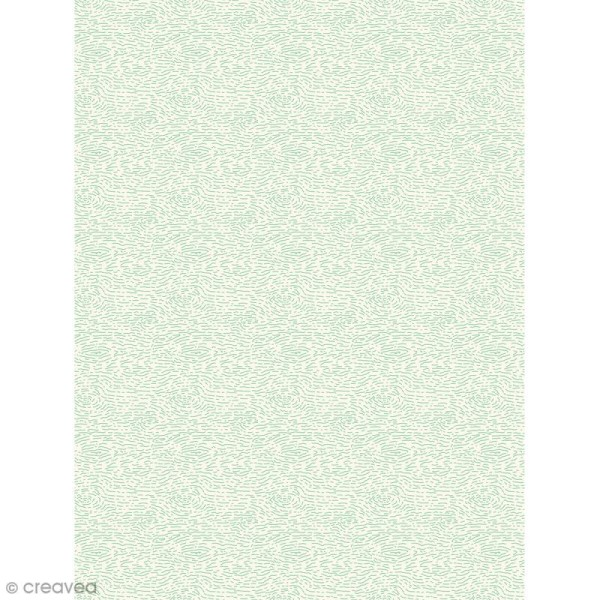 Décopatch N° 737 - Motif Ecorces vertes sur fond blanc - 1 feuille - Photo n°1