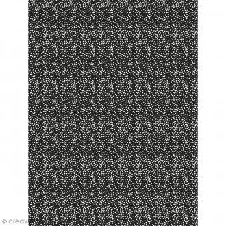 Décopatch N° 743 - Motif Points blancs sur fond noir - 1 feuille