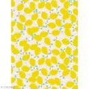 Décopatch N° 745 - Motif Gros Citrons sur fond Blanc et rose - 1 feuille