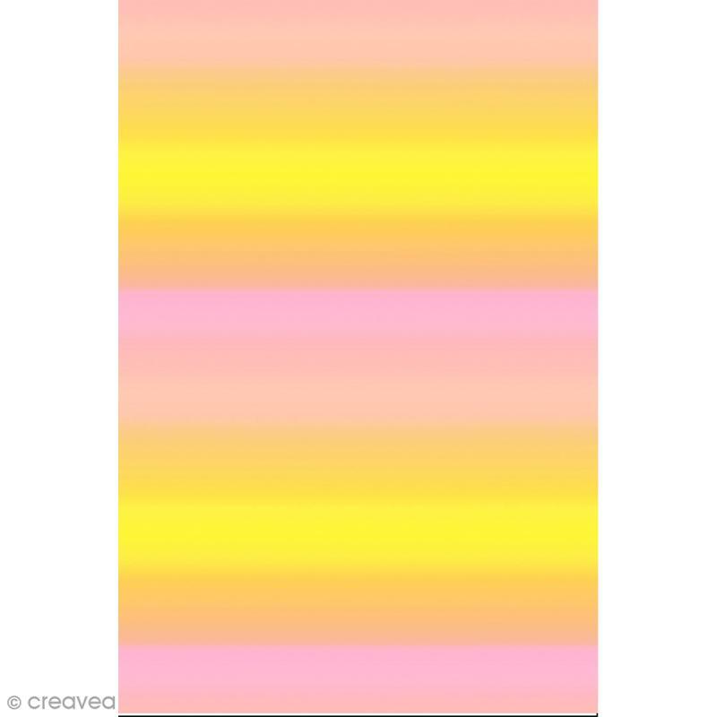 d copatch n 749 motif d grad de couleur sur fond rose et jaune 1 feuille feuille. Black Bedroom Furniture Sets. Home Design Ideas