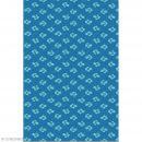 Décopatch N° 752 - Motif Feuilles style nénuphars sur fond bleu - 1 feuille - Photo n°1