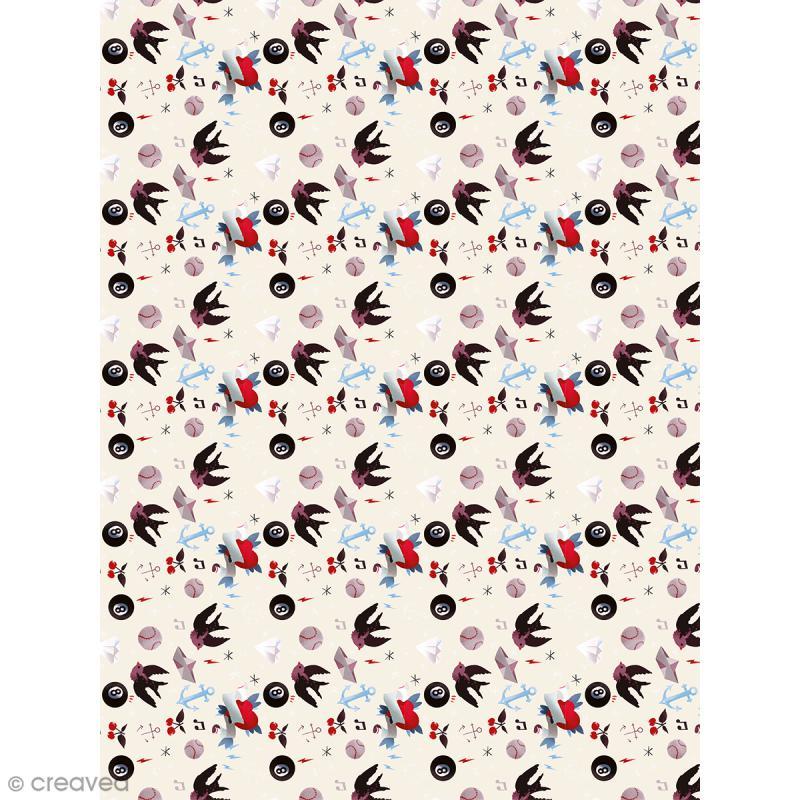 Décopatch N° 763 - Motif Divers sur fond blanc  - 1 feuille - Photo n°1