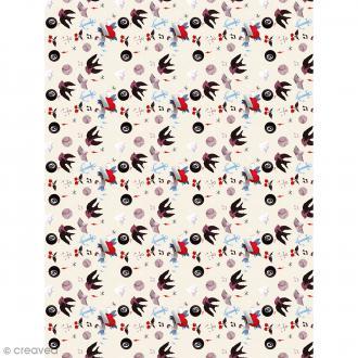 Décopatch N° 763 - Motif Divers sur fond blanc  - 1 feuille