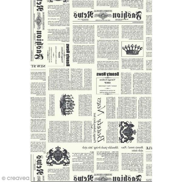 Décopatch N° 770 - Motif Journal sur fond blanc - 1 feuille - Photo n°1