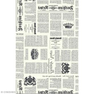 Décopatch N° 770 - Motif Journal sur fond blanc - 1 feuille