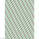 Décopatch N° 775 - Motif Triangles sur fond multicolore - 1 feuille - Photo n°1