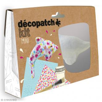 Mini kit créatif Décopatch en plâtre - Dauphin