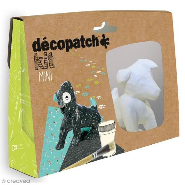 Mini kit créatif Décopatch en plâtre - Chien - Photo n°1
