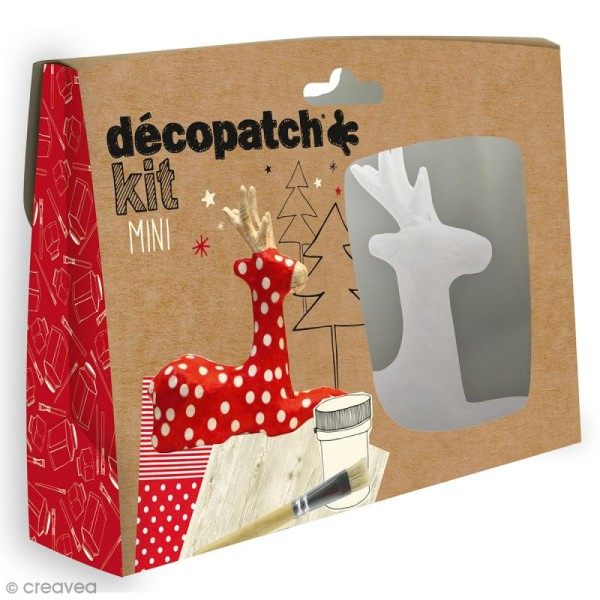 Mini kit créatif Welcome Décopatch - Renne - Photo n°1