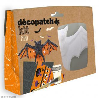 Mini kit créatif Welcome Décopatch - Chauve-souris
