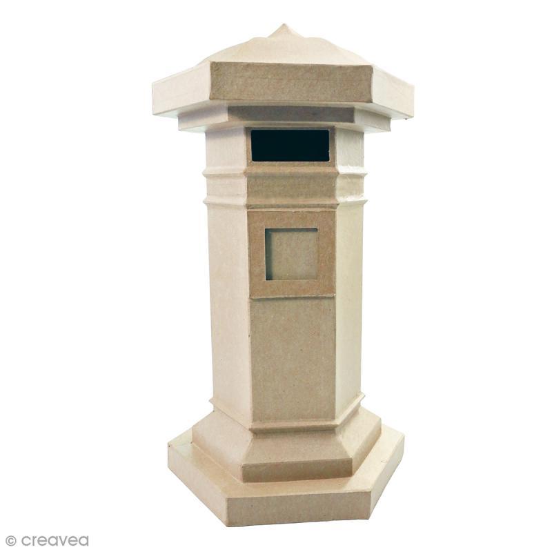 Boîte aux lettres en papier mâché à décorer - 49 x 28 x 28 cm - Photo n°1