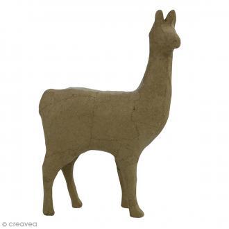Lama en papier mâché à décorer - 13 x 22 x 5 cm