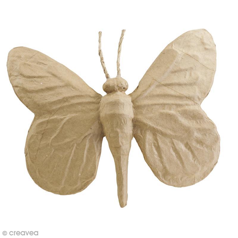 Papillon en papier mâché à décorer - 22,5 x 20 x 3,5 cm - Photo n°1