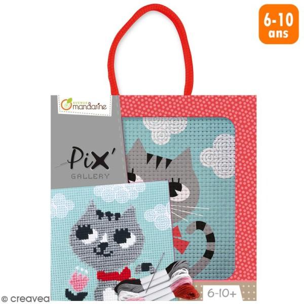 Kit de point de croix Pix' Gallery - Chat - Photo n°1