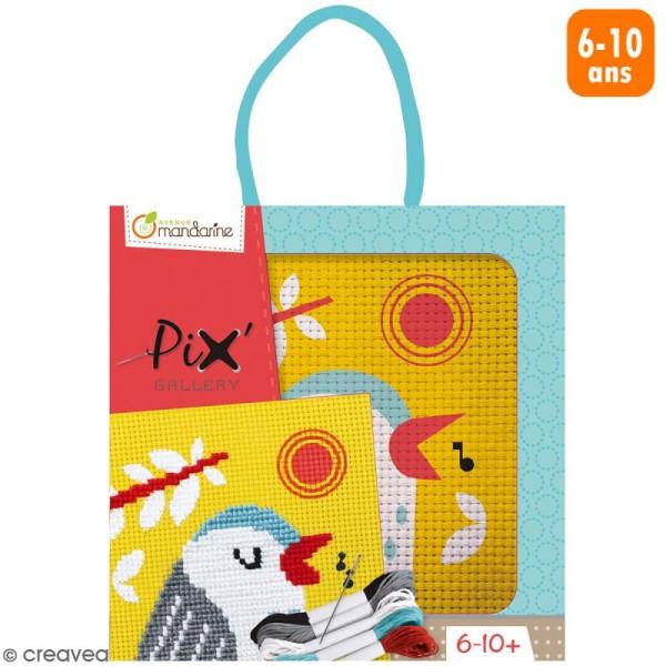 Kit de point de croix Pix' Gallery - Oiseau - Photo n°1