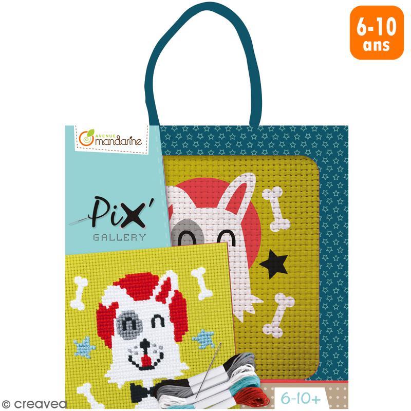 Kit de point de croix Pix' Gallery - Chien - Photo n°1