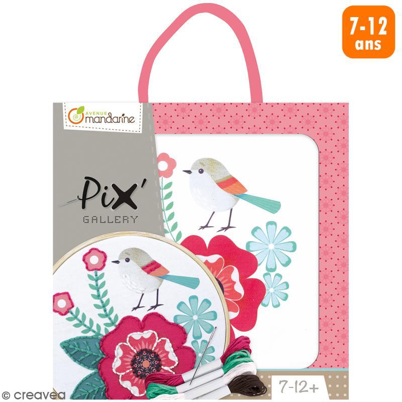 Kit de broderie Pix' Gallery - Rose - Photo n°1