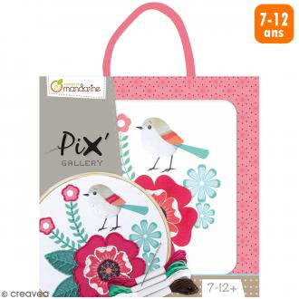 Kit de broderie Pix' Gallery - Rose