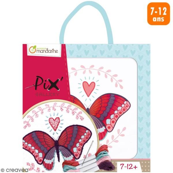Kit de point de croix Pix' Gallery - Papillon - Photo n°1