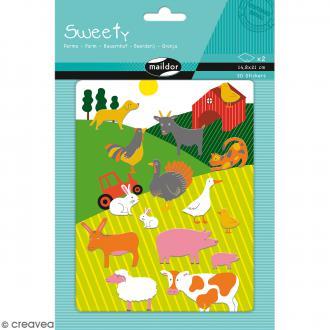 Stickers Fantaisie Sweety - Ferme - 30 pcs