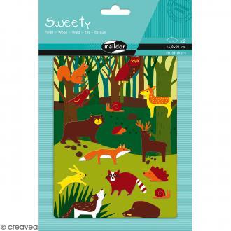 Stickers Fantaisie Sweety - Fôret - 30 pcs