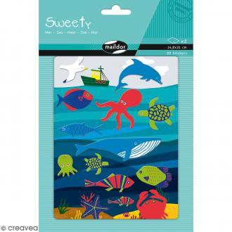 Stickers Fantaisie Sweety - Mer - 28 pcs