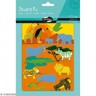 Stickers Fantaisie Sweety - Savane - 28 pcs
