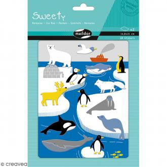Stickers Fantaisie Sweety - Banquise - 28 pcs
