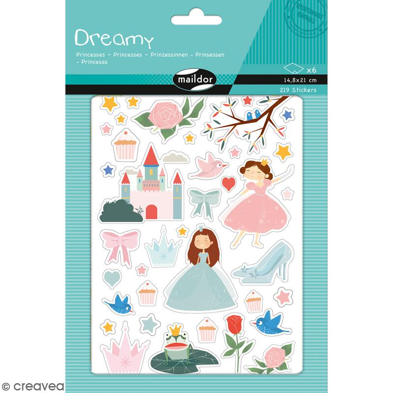 Autocollants Dreamy - Princesses - 219 pcs - Photo n°1