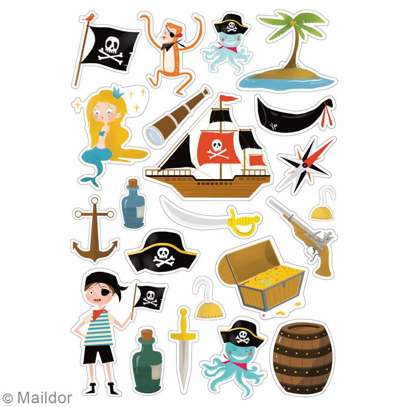 Autocollants Dreamy - Pirates - 138 pcs - Photo n°3