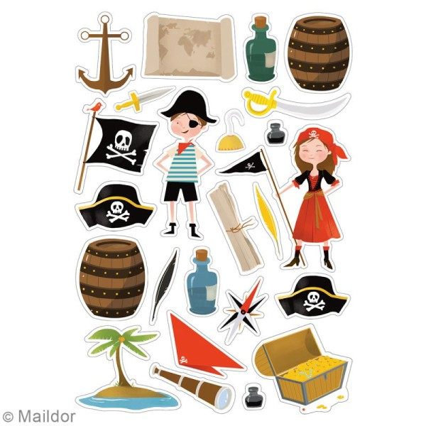 Autocollants Dreamy - Pirates - 138 pcs - Photo n°2